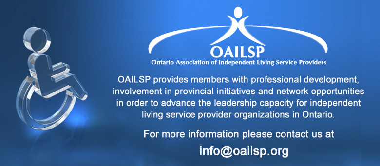 OAILSP - Ontario Association of Independent Living Service Providers